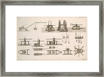 Simple Machines Framed Print by Science, Industry And Business Library/new York Public Library