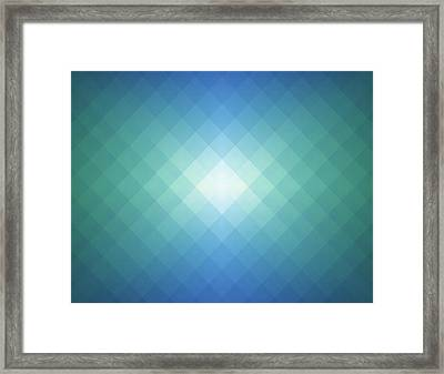 Simple Pixels Background Framed Print by Simon2579