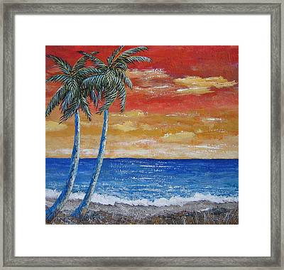 Framed Print featuring the painting Simple Pleasure by Suzanne Theis