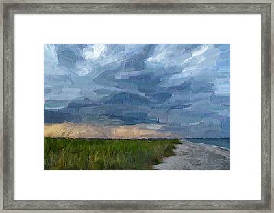 Simple Seaside Landscape Framed Print by Yury Malkov