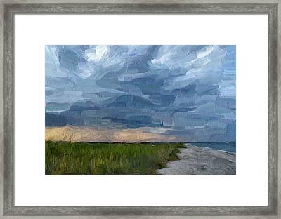 Simple Seaside Landscape Framed Print by Yury Malkov