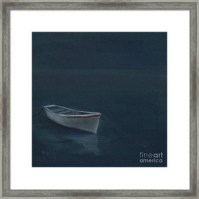 Simple Serenity - Lone Boat Framed Print