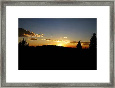 Simple Sunset Framed Print by Jeremy Rhoades