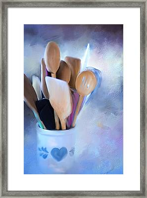 Simple Utensils. Framed Print by Mary Timman