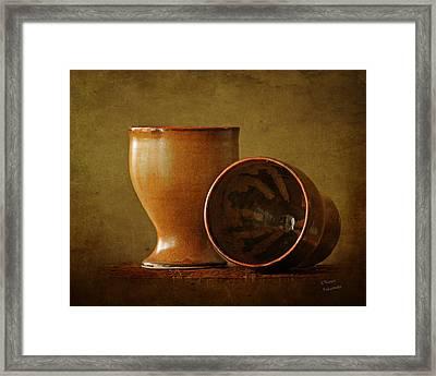 Simple Wine Goblets Framed Print by Renee Forth-Fukumoto