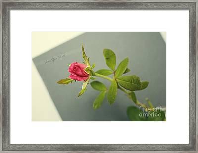 Simple Words Of Love Framed Print by Ella Kaye Dickey