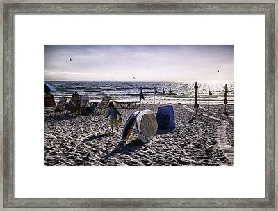 A Time Of Innocense - Miami Beach - Florida Framed Print by Madeline Ellis