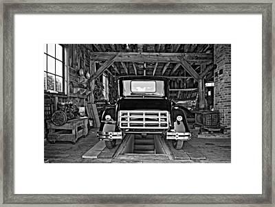Simpler Times 2 Monochrome Framed Print