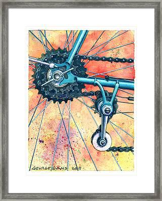 Cyclo Standard Framed Print by George Evans