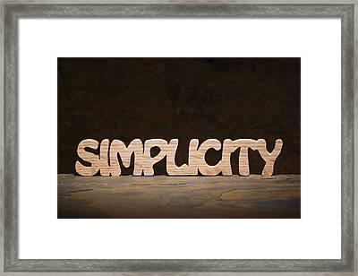 Simplicity Framed Print by Donald  Erickson