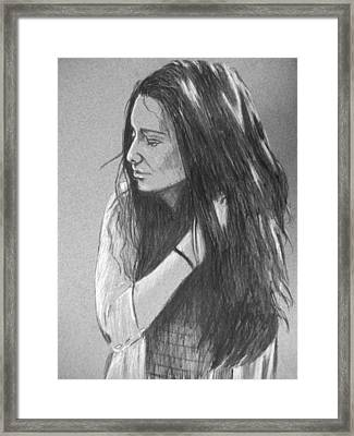 Simplicity Grey Framed Print by Justin Moore