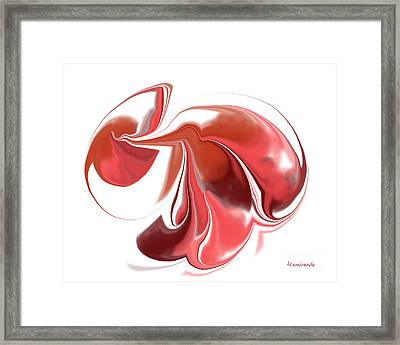 Simplicity In Red Framed Print by Louise Lamirande
