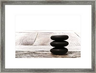 Simplicity Framed Print by Olivier Le Queinec