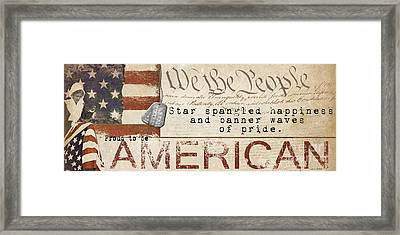 Simplified America Framed Print by Grace Pullen