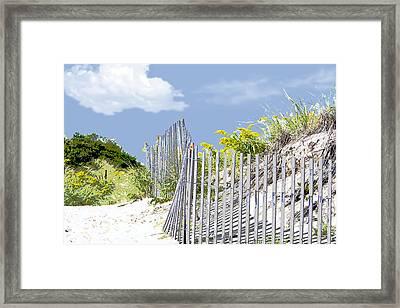 Simplified View Of Coastal Dune Framed Print