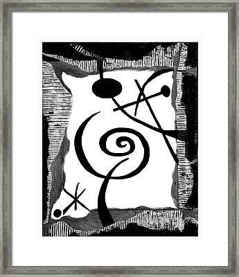 Simply Black And White Framed Print