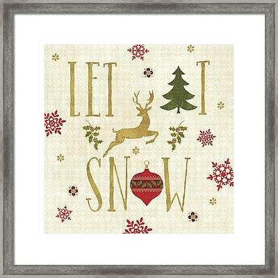 Simply Christmas I Framed Print by Veronique Charron