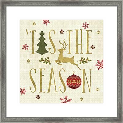 Simply Christmas II Framed Print by Veronique Charron