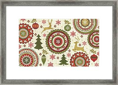 Simply Christmas IIi Framed Print by Veronique Charron