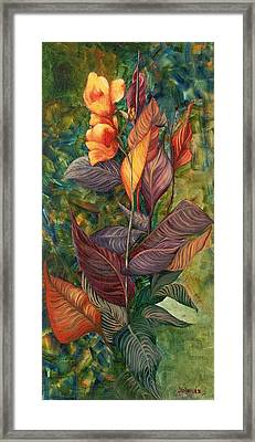 Framed Print featuring the painting Simply Flowers by Yolanda Raker