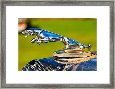 Simply Jaguar-front Emblem Framed Print