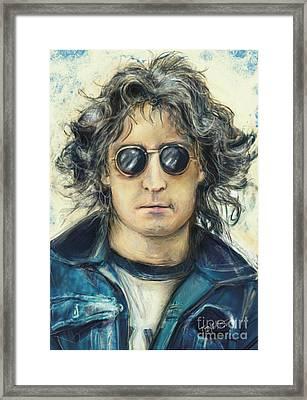 Simply John Lennon Framed Print by Mark Tonelli