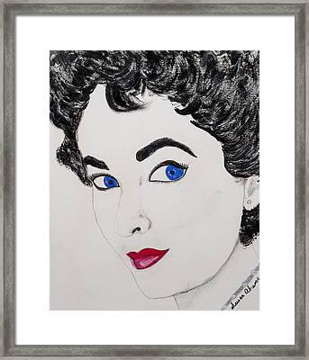Simply Liz Framed Print by Susan Abrams