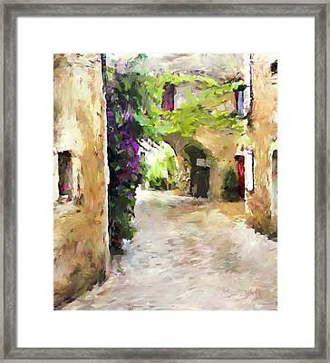 Simply Old Town Framed Print