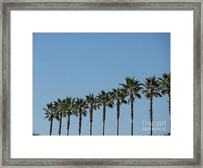 Simply Palms Framed Print