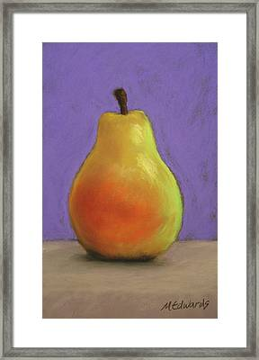 Simply Pear Framed Print by Marna Edwards Flavell
