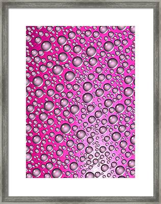 Simply Pink-abstract Framed Print by Tom Druin