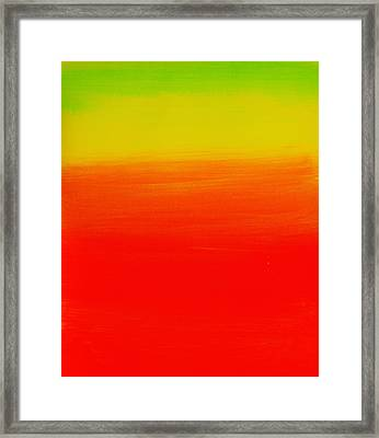 Simply Rasta Framed Print