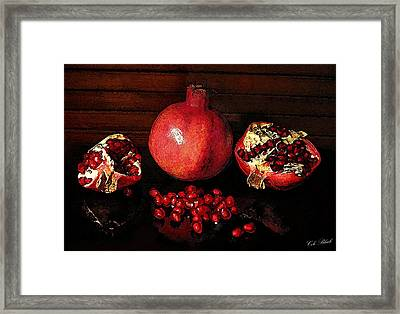 Simply Red Framed Print by Cole Black