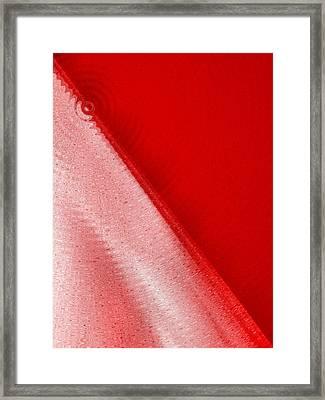 Simply Red Framed Print by Tom Druin