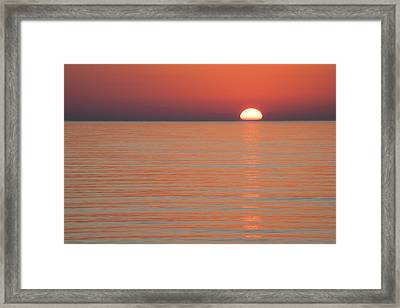 Simply Sunset Framed Print