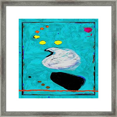 Simply Turquoise Framed Print