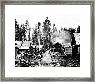 Simpson Timber Company Logging Camp Framed Print