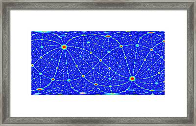 Simulated Crystal Planes Framed Print by Ammrf, University Of Sydney