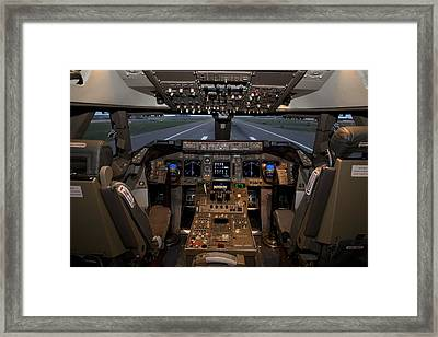 Simulator Of A Boeing 747 Jumbo Jet Framed Print by Science Photo Library