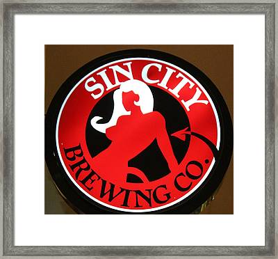 Sin City Brewing  Framed Print by Cynthia Guinn