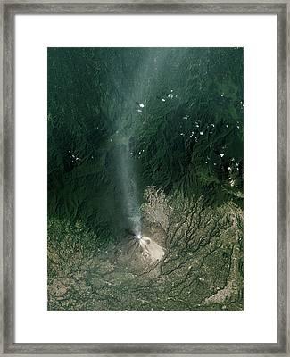 Sinabung Volcanic Eruption Framed Print