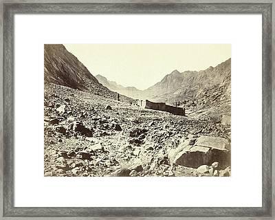 Sinai Monastery On Mount Horeb Framed Print