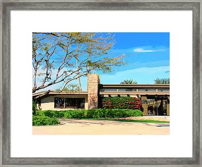 Sinatra Home Palm Springs Framed Print by William Dey
