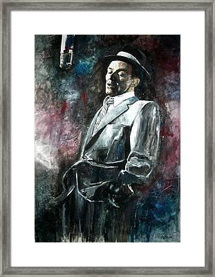 Frank Sinatra In Capitol Framed Print