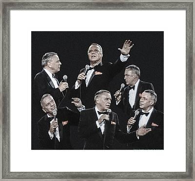 Sinatra In Concert Framed Print by Vladimir Kholostykh