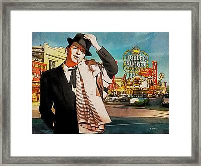 Sinatra In Vegas 1955 Framed Print by Kai Saarto