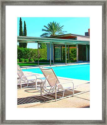 Sinatra Pool Palm Springs Framed Print by William Dey