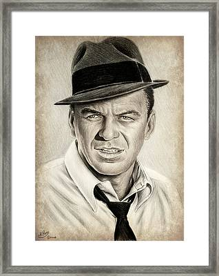 Sinatra Sepia Mix Framed Print by Andrew Read