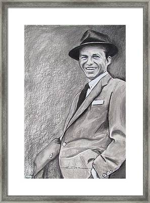 Sinatra - The Voice Framed Print by Eric Dee