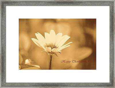 Sincere Thanks Framed Print by Sonali Gangane
